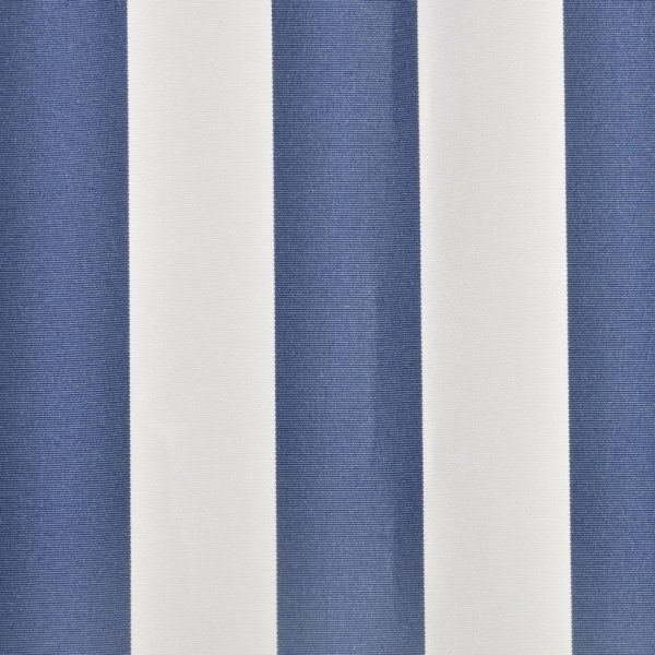 Awning Top Sunshade Canvas Blue & White 4 x 3 m 3