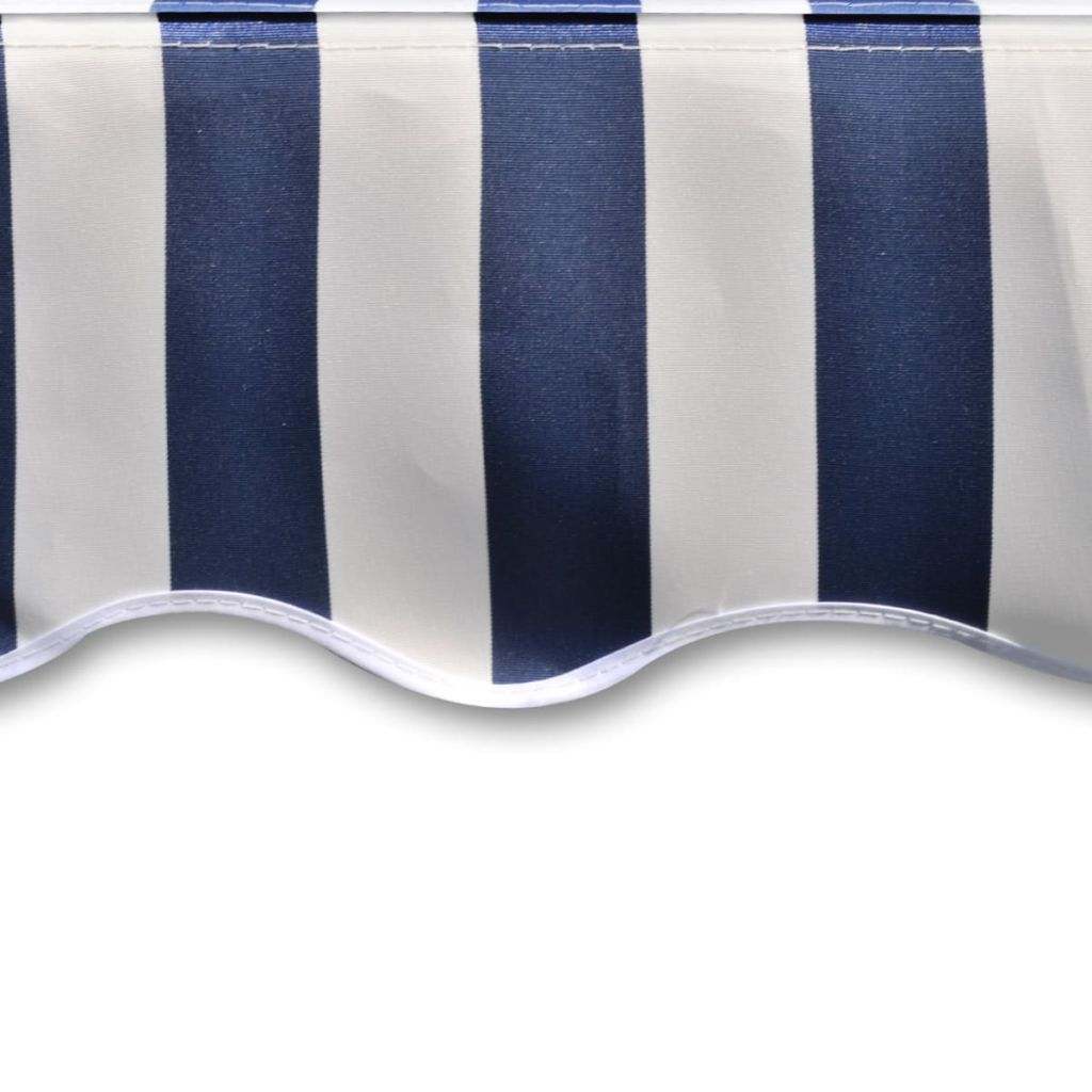 Awning Top Sunshade Canvas Blue & White 4 x 3 m 4