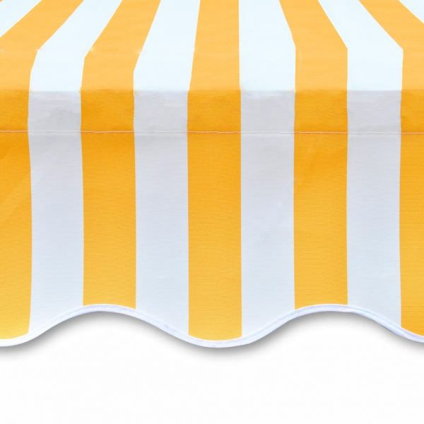 Awning Top Sunshade Canvas Yellow & White 3 x 2