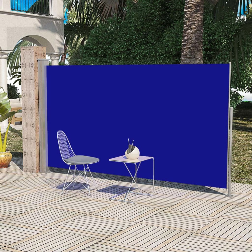 Patio Terrace Side Awning 180 x 300 cm Blue 1