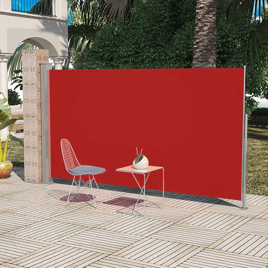 Patio Terrace Side Awning 180 x 300 cm Red 1