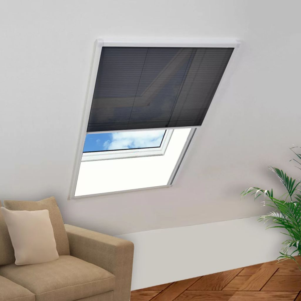 Plisse Insect Screen Window 160 x 80 cm 1