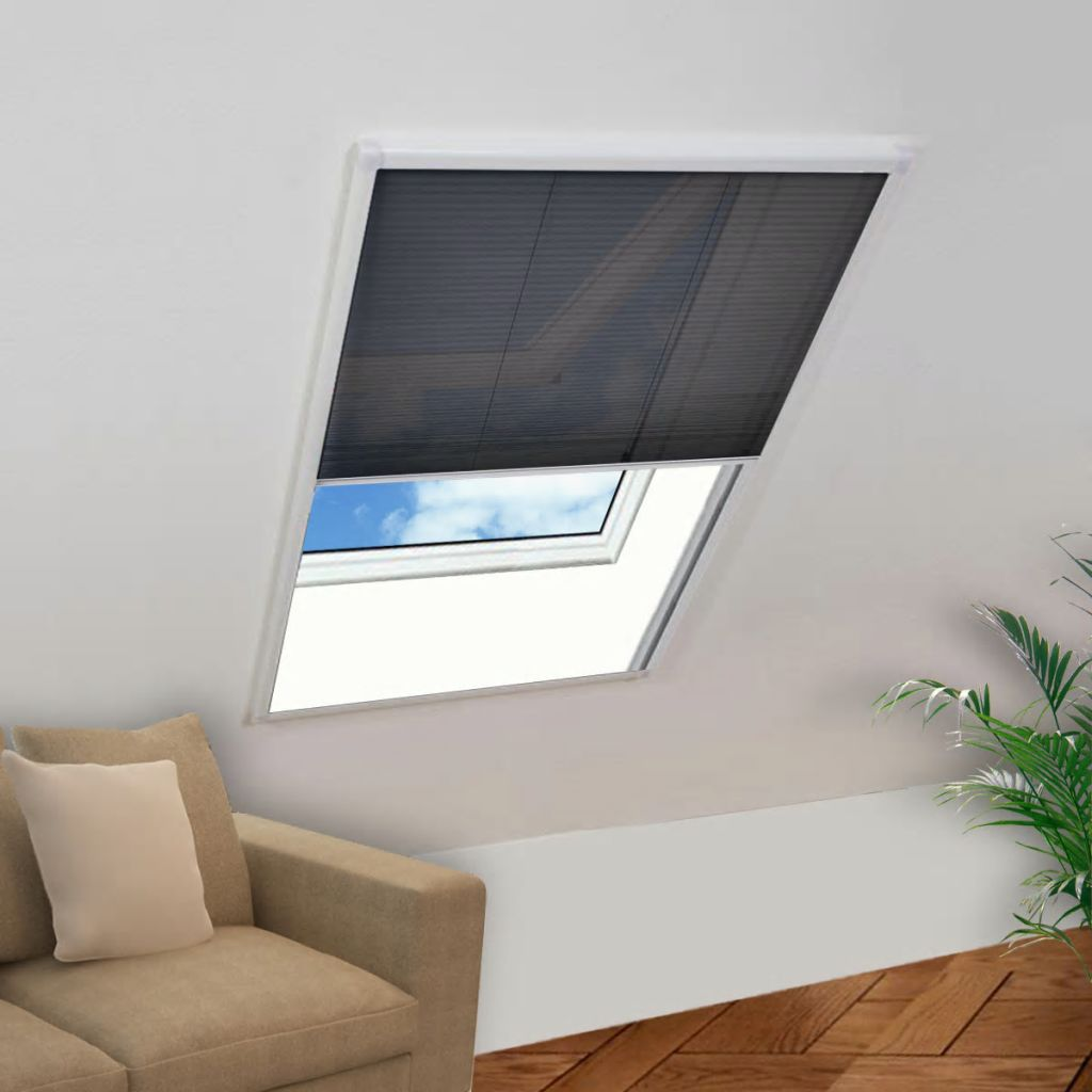 Plisse Insect Screen Window 160 x 110 cm 1