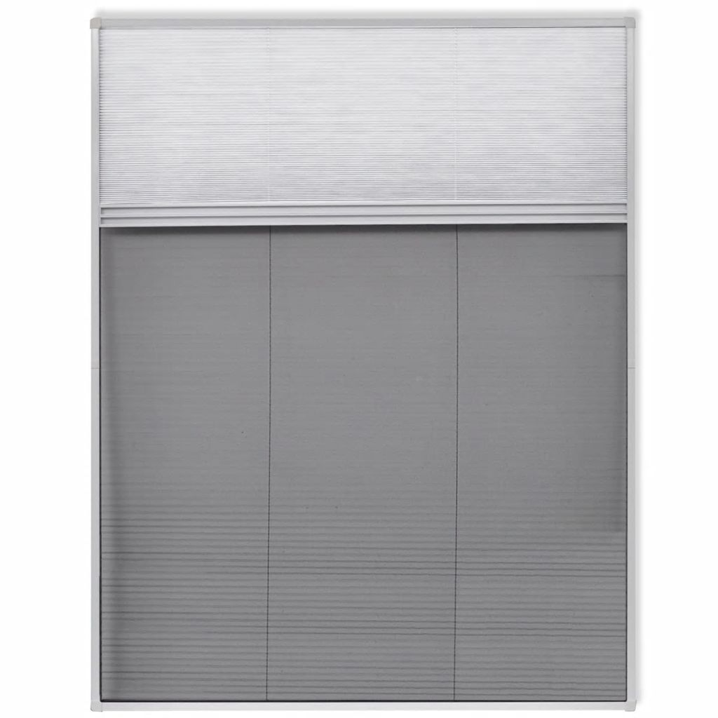 Insect Plisse Screen Window Aluminium 160 x 110 cm with Shade 2