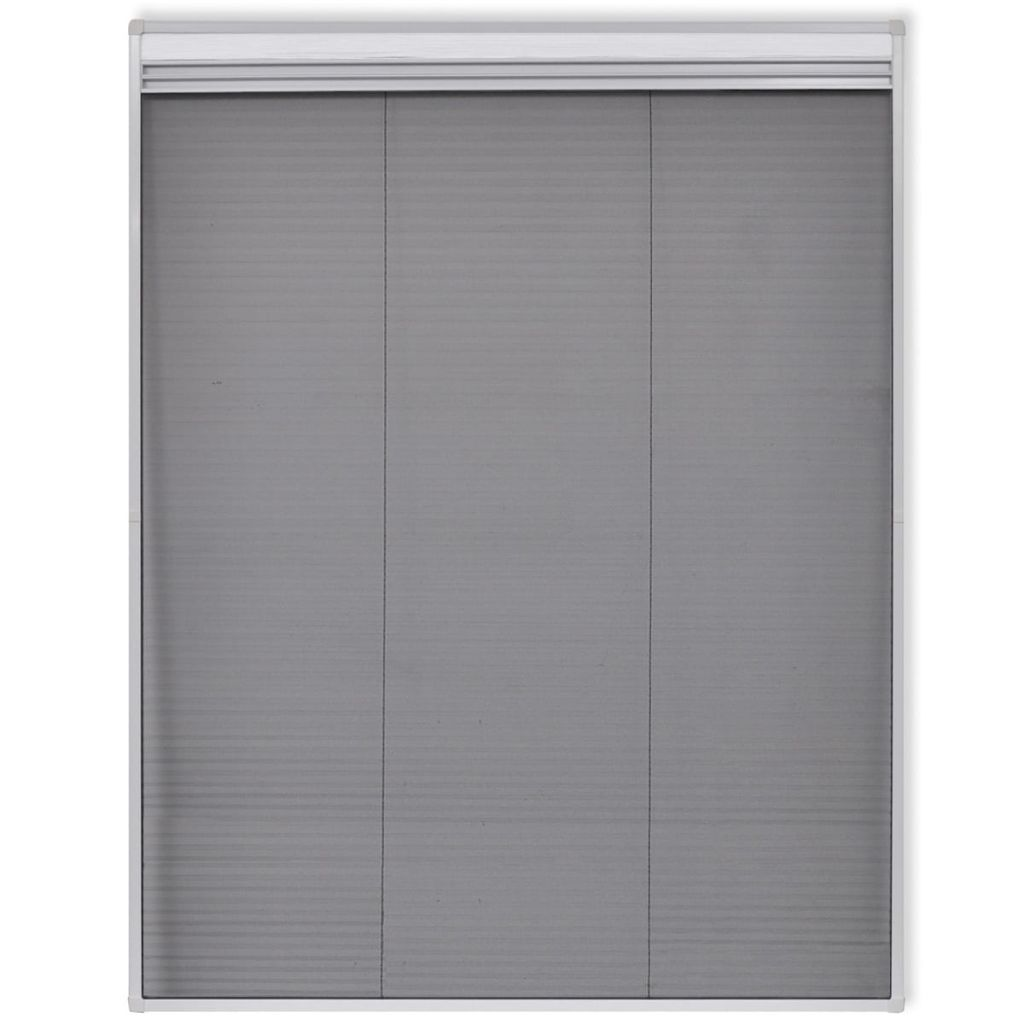 Insect Plisse Screen Window Aluminium 160 x 110 cm with Shade 3