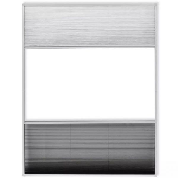 Insect Plisse Screen Window Aluminium 160 x 110 cm with Shade 4