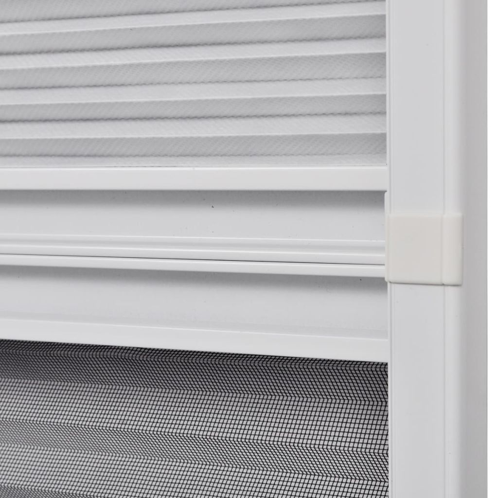 Insect Plisse Screen Window Aluminium 160 x 110 cm with Shade 6