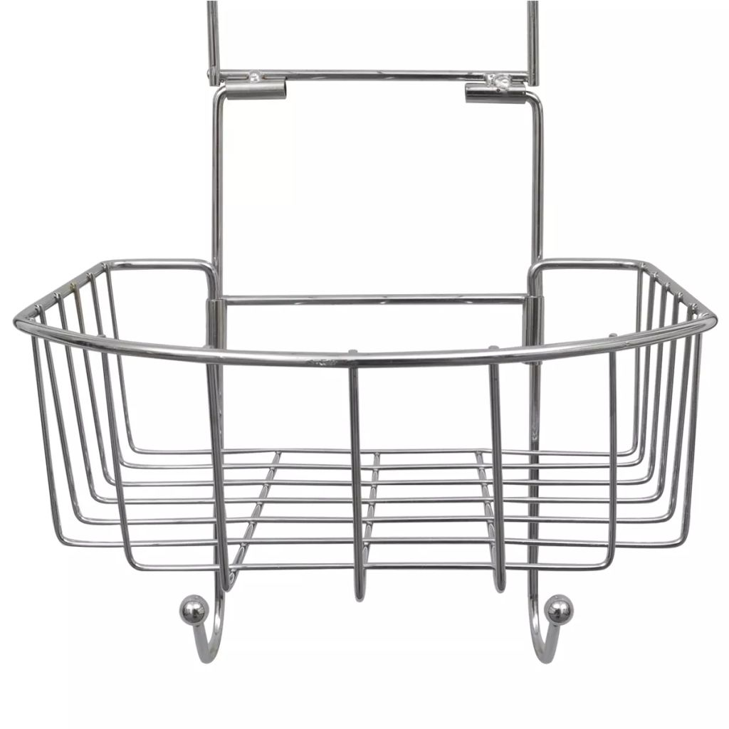 Metal Shower Shelf 2-Tier with 2 Hangers 2