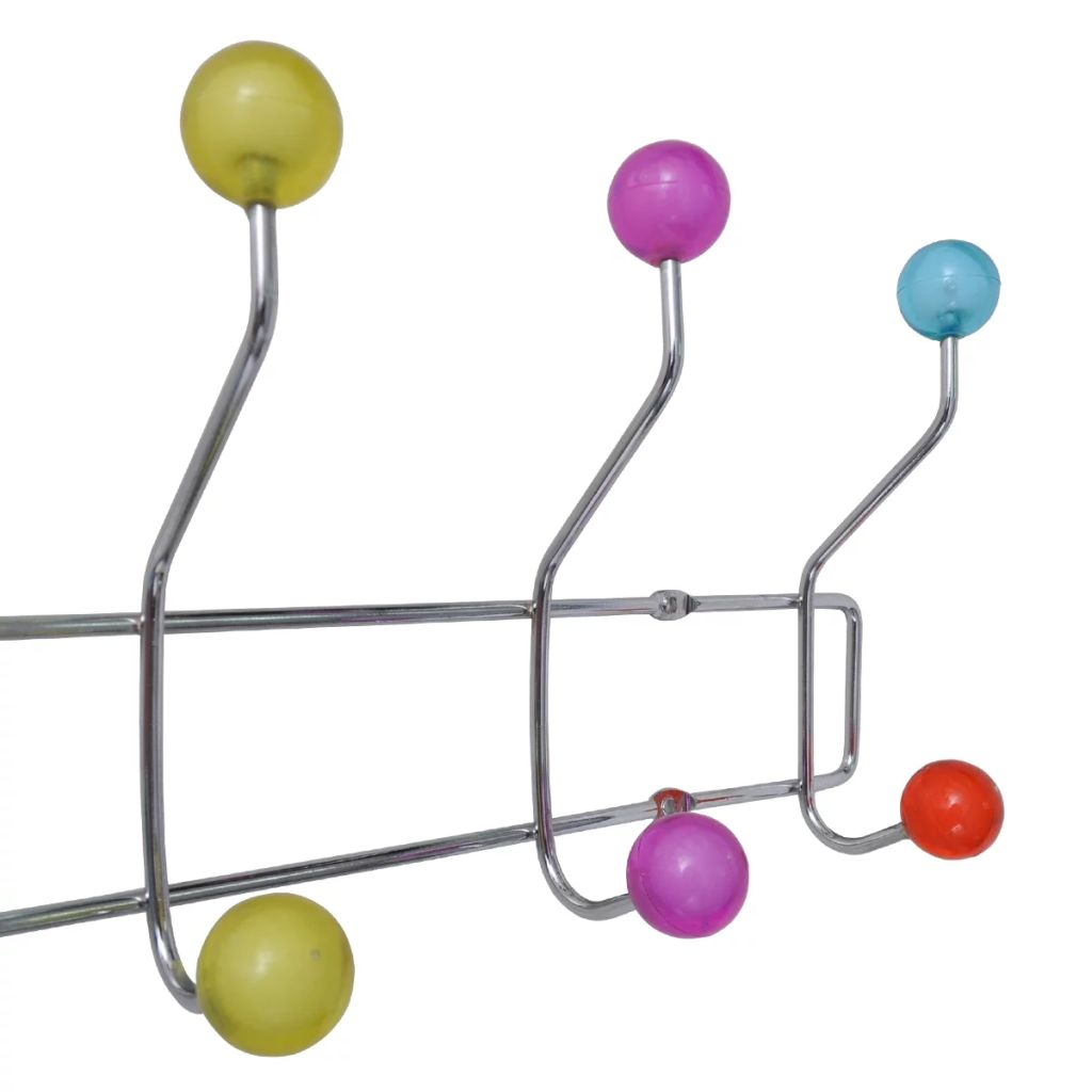 Colourful Wall Peg Board with 12 Hooks 2 pcs 4