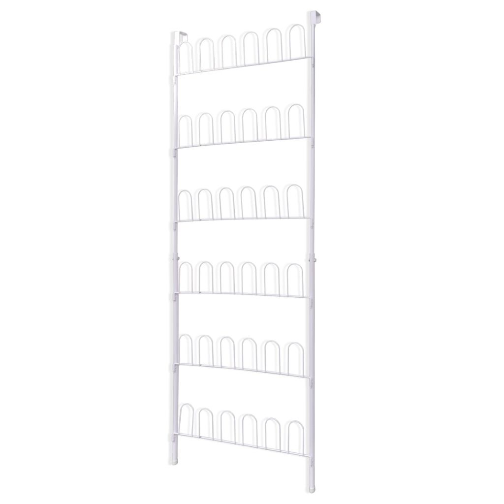 Shoe Rack for 18 Pairs of Shoes Steel White 2
