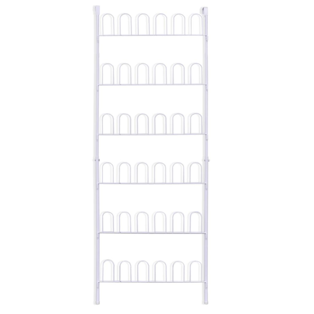 Shoe Rack for 18 Pairs of Shoes Steel White 4
