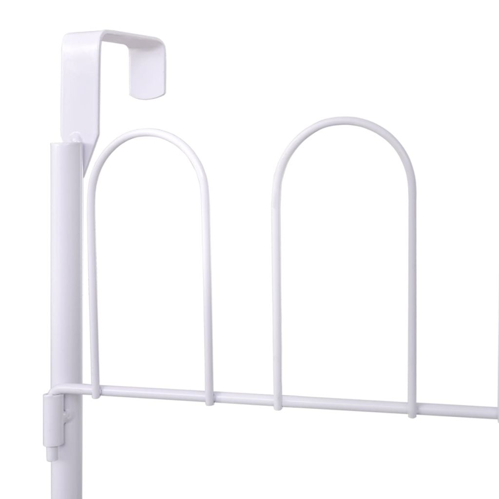 Shoe Rack for 18 Pairs of Shoes Steel White 5