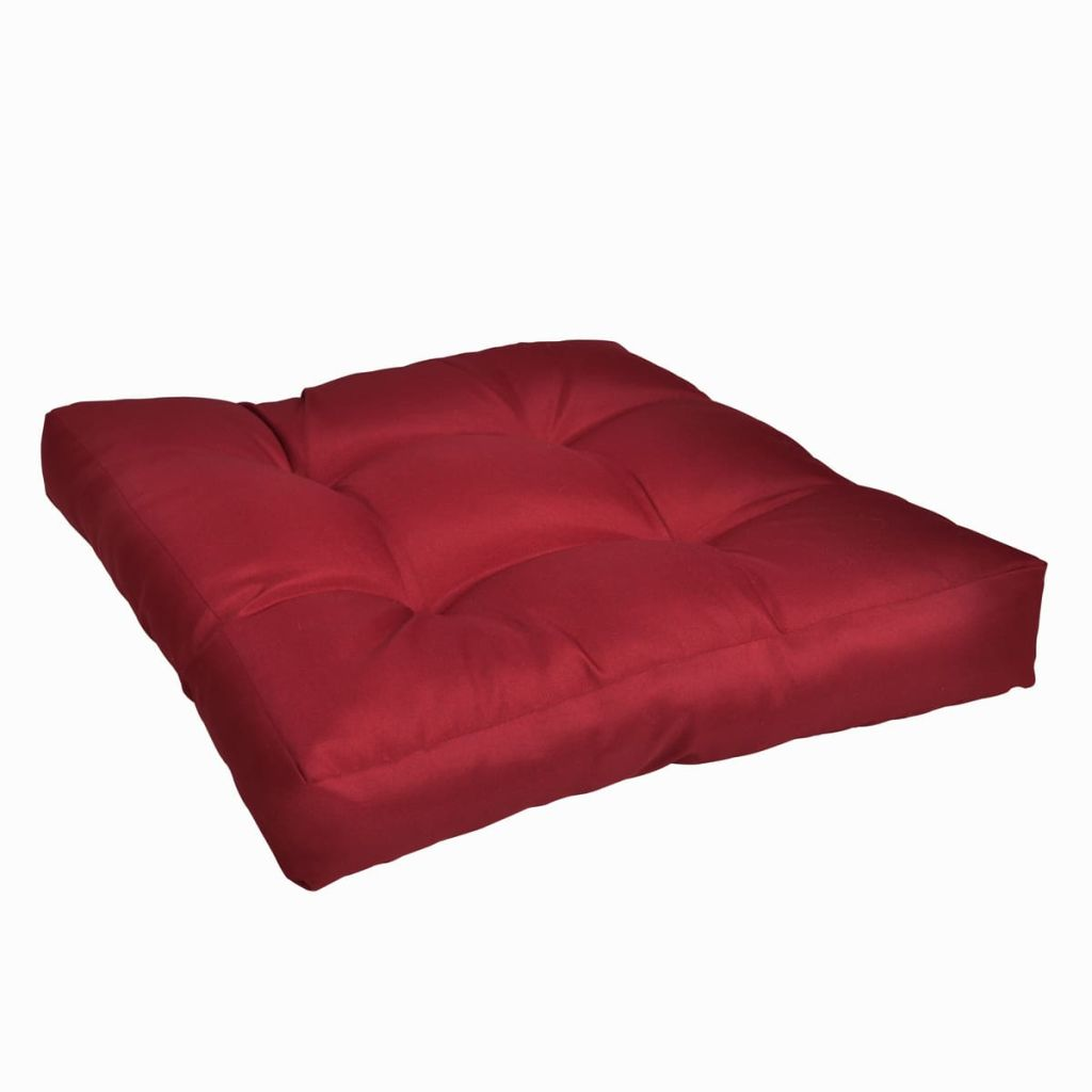 Upholstered Seat Cushion 50 x 50 x 10 cm Wine Red 1