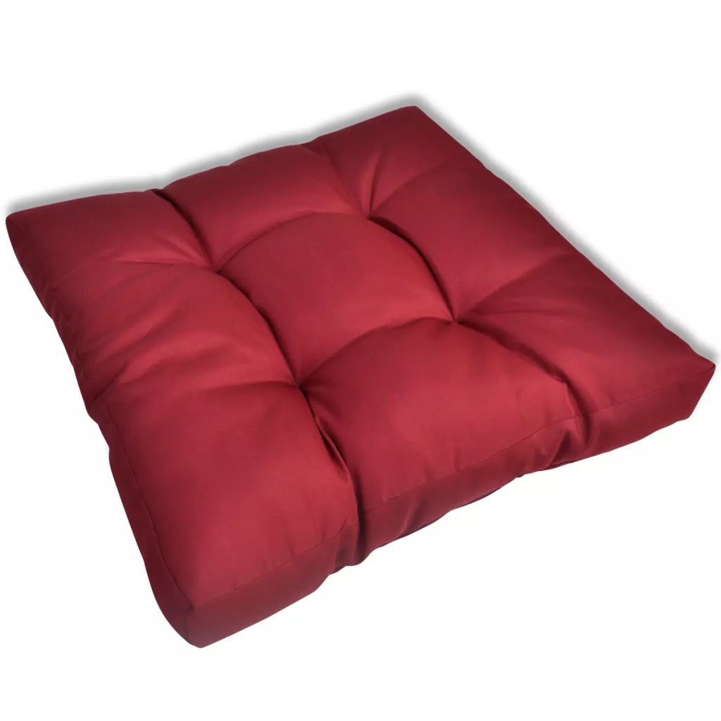 Upholstered Seat Cushion 60 x 60 x 10 cm Wine Red 1