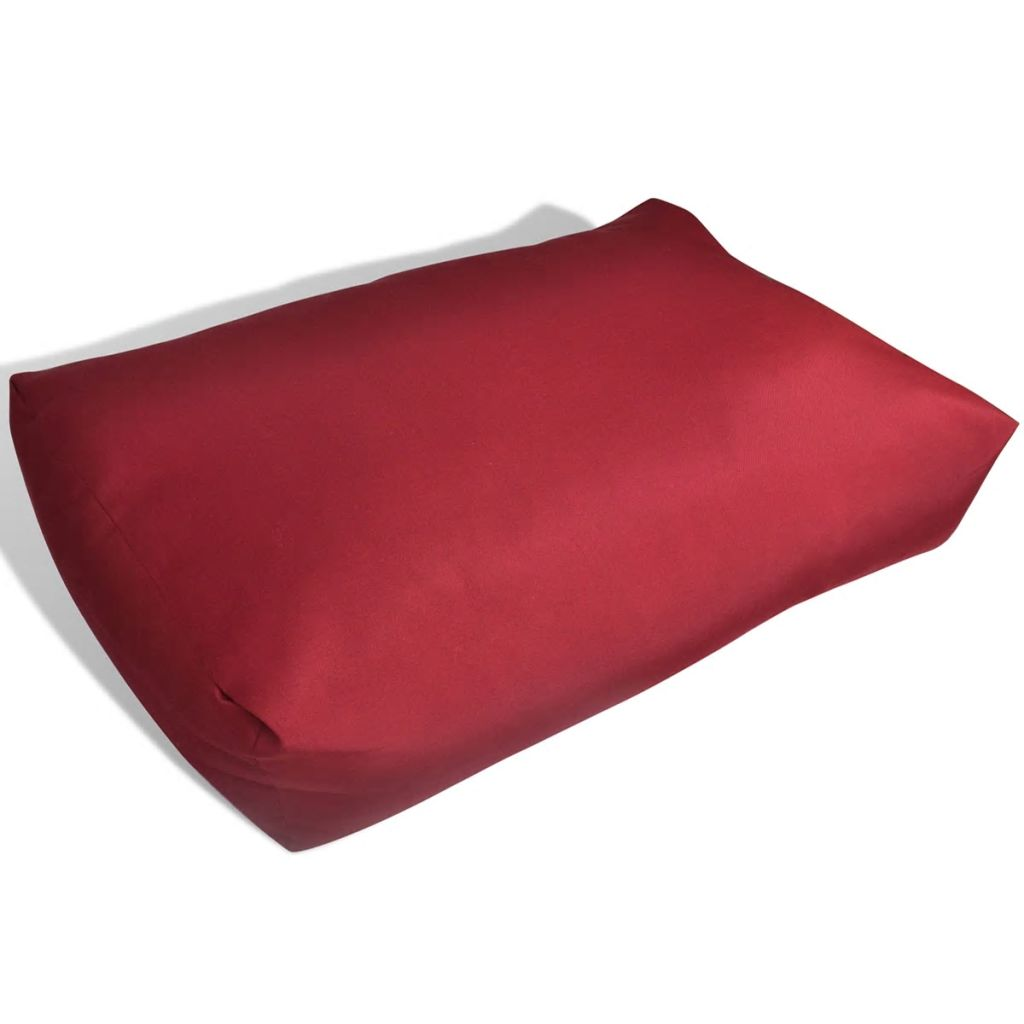 Upholstered Back Cushion 60 x 40 x 20 cm Wine Red 1