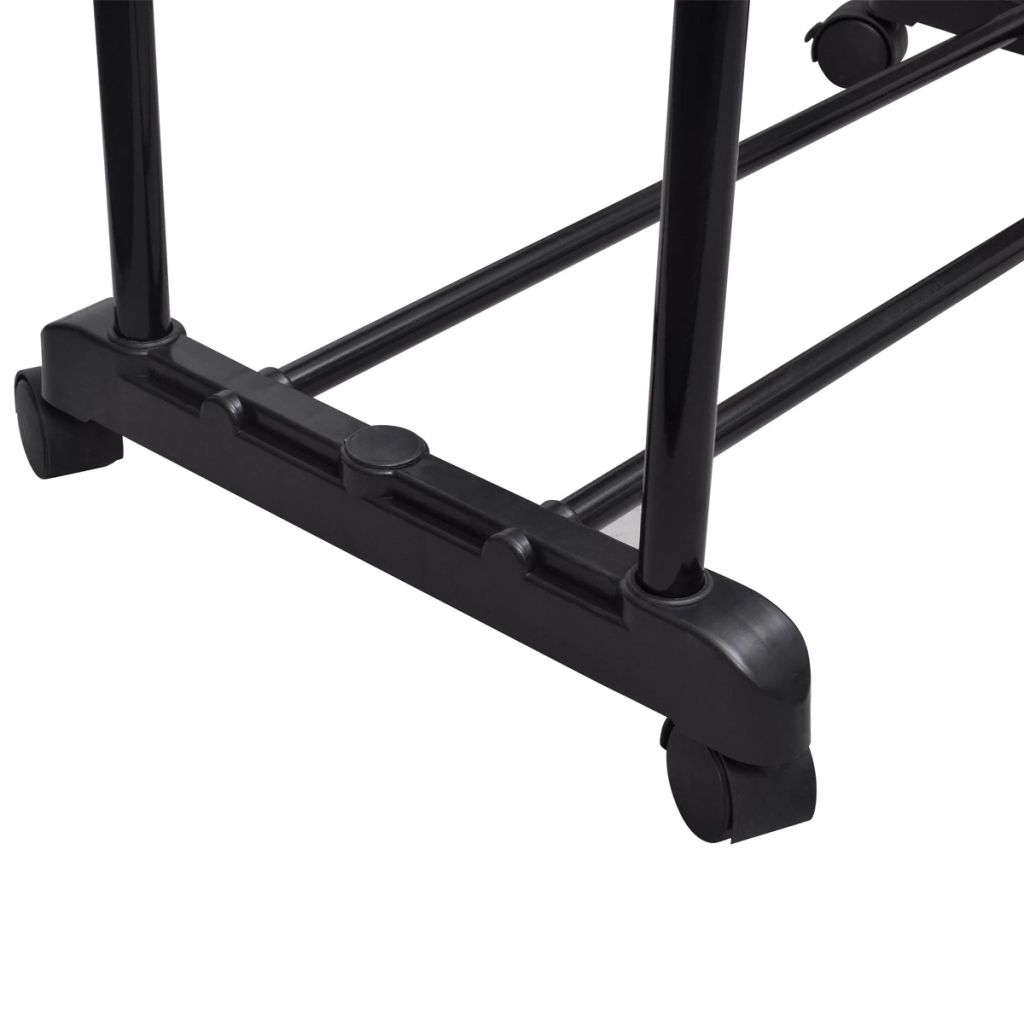 Adjustable Clothes Rack with 2 Hanging Rails 2 pcs 4