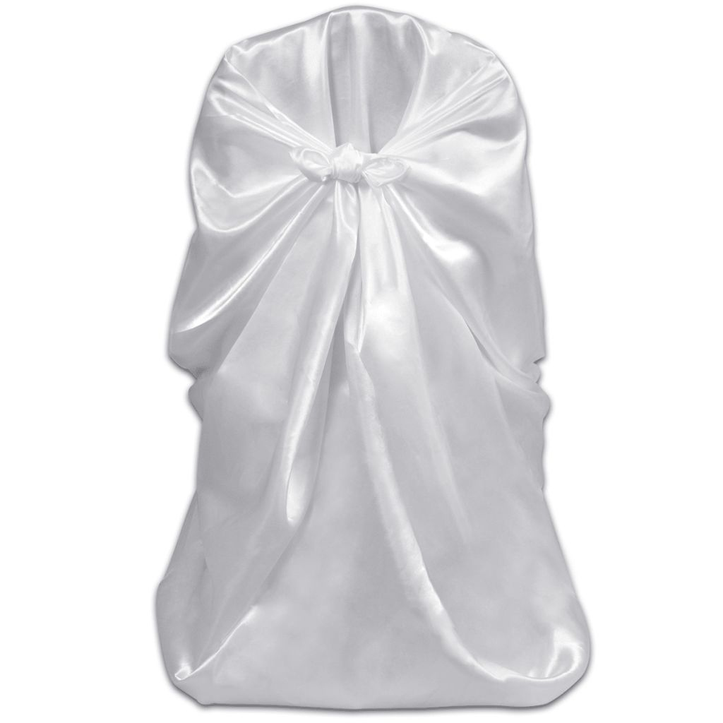 6 pcs White Chair Cover for Wedding Banquet 2