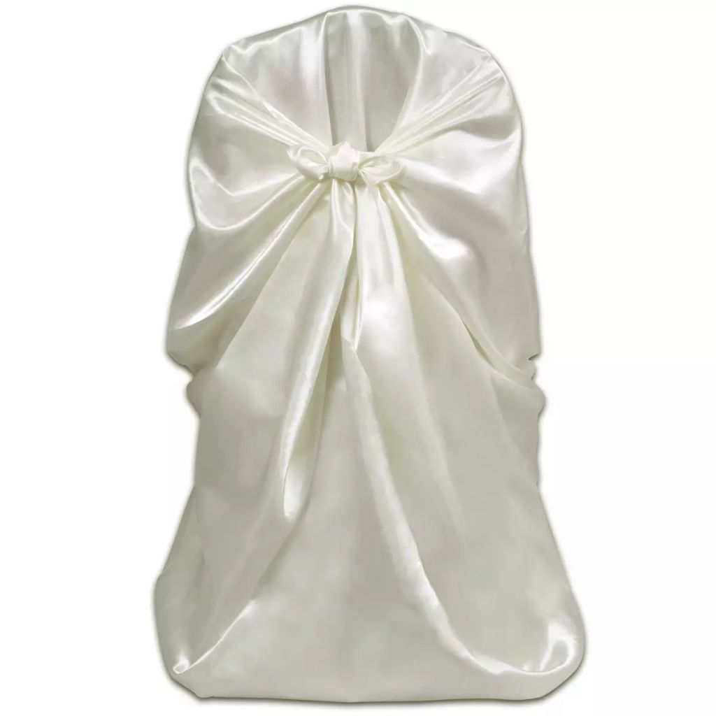 6 pcs Cream Chair Cover for Wedding Banquet 2