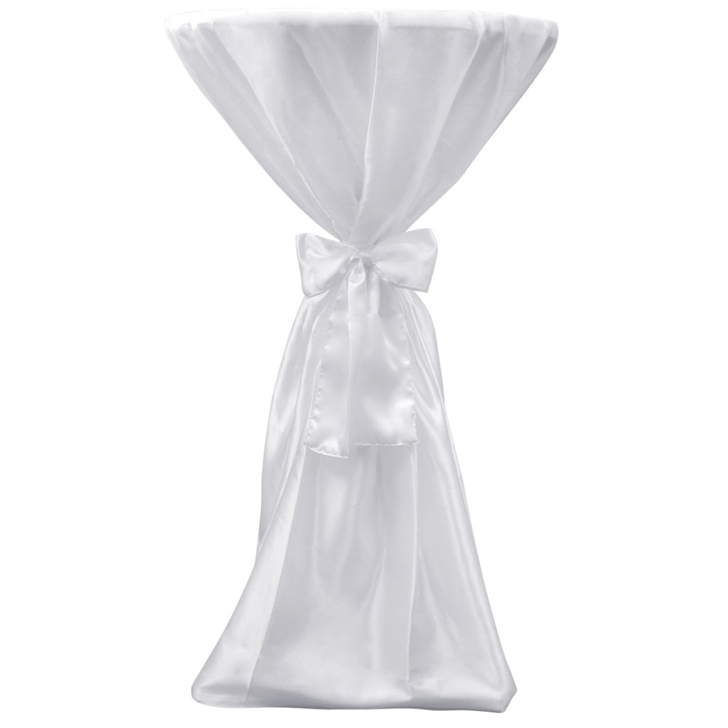 Table Cover White 70 cm with Ribbon 2 pcs 2
