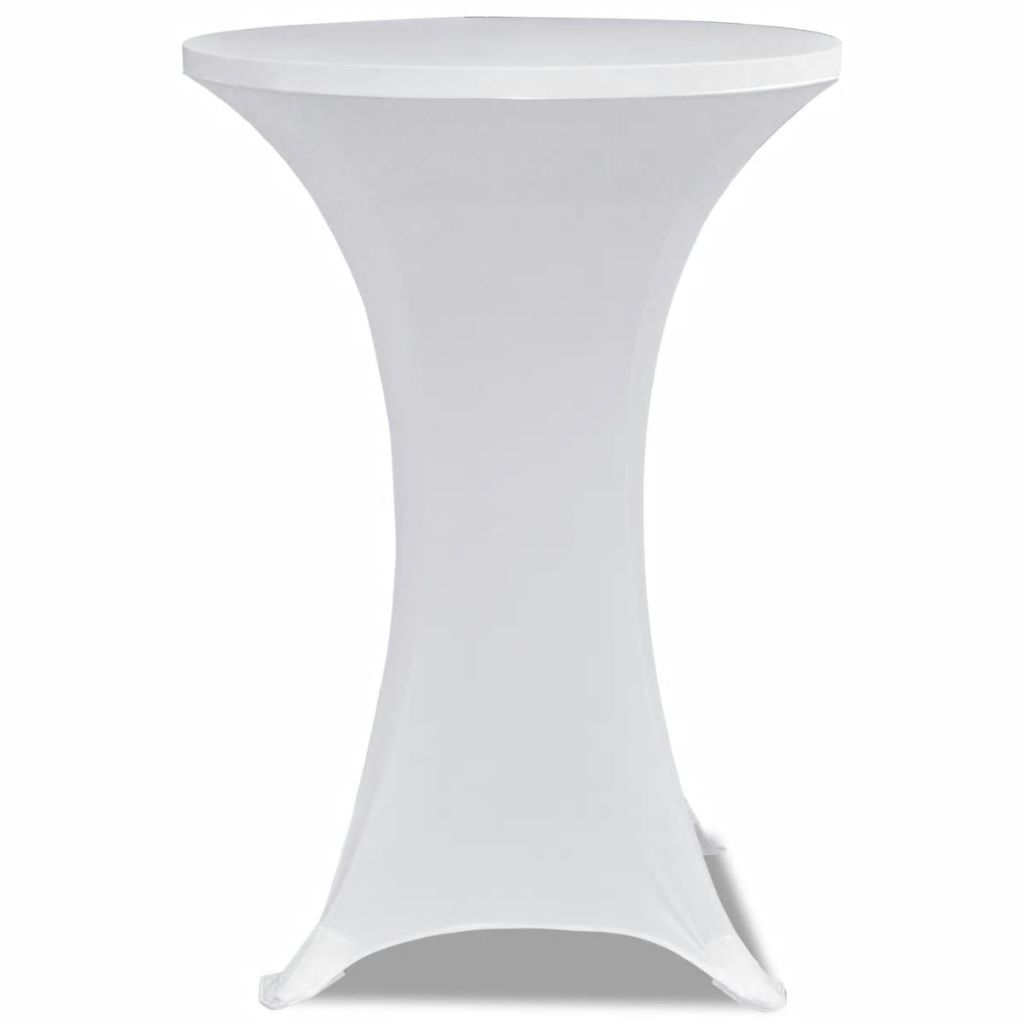 Standing Table Cover Ø 60 cm White Stretch 2 pcs 3