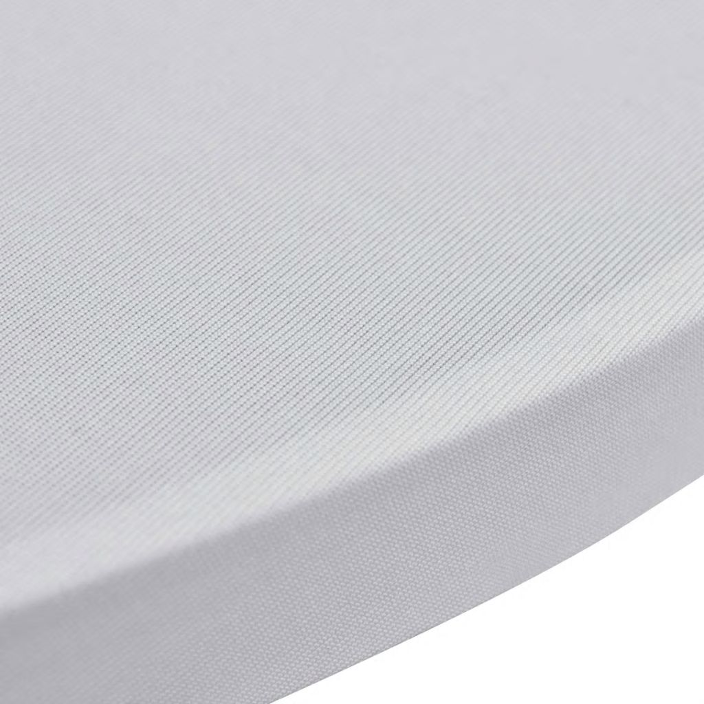 Standing Table Cover Ø 60 cm White Stretch 2 pcs 4