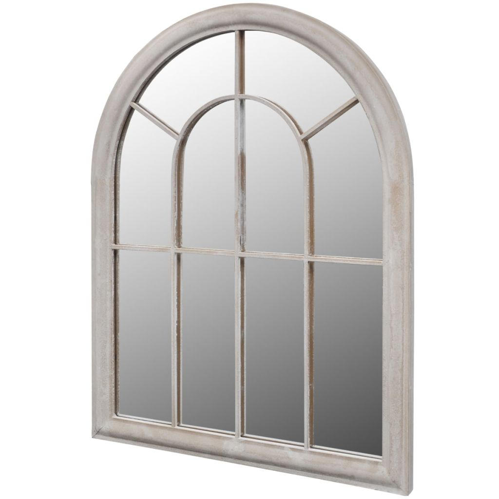 Rustic Arch Garden Mirror 89 x 69 cm for Both Indoor and Outdoor Use