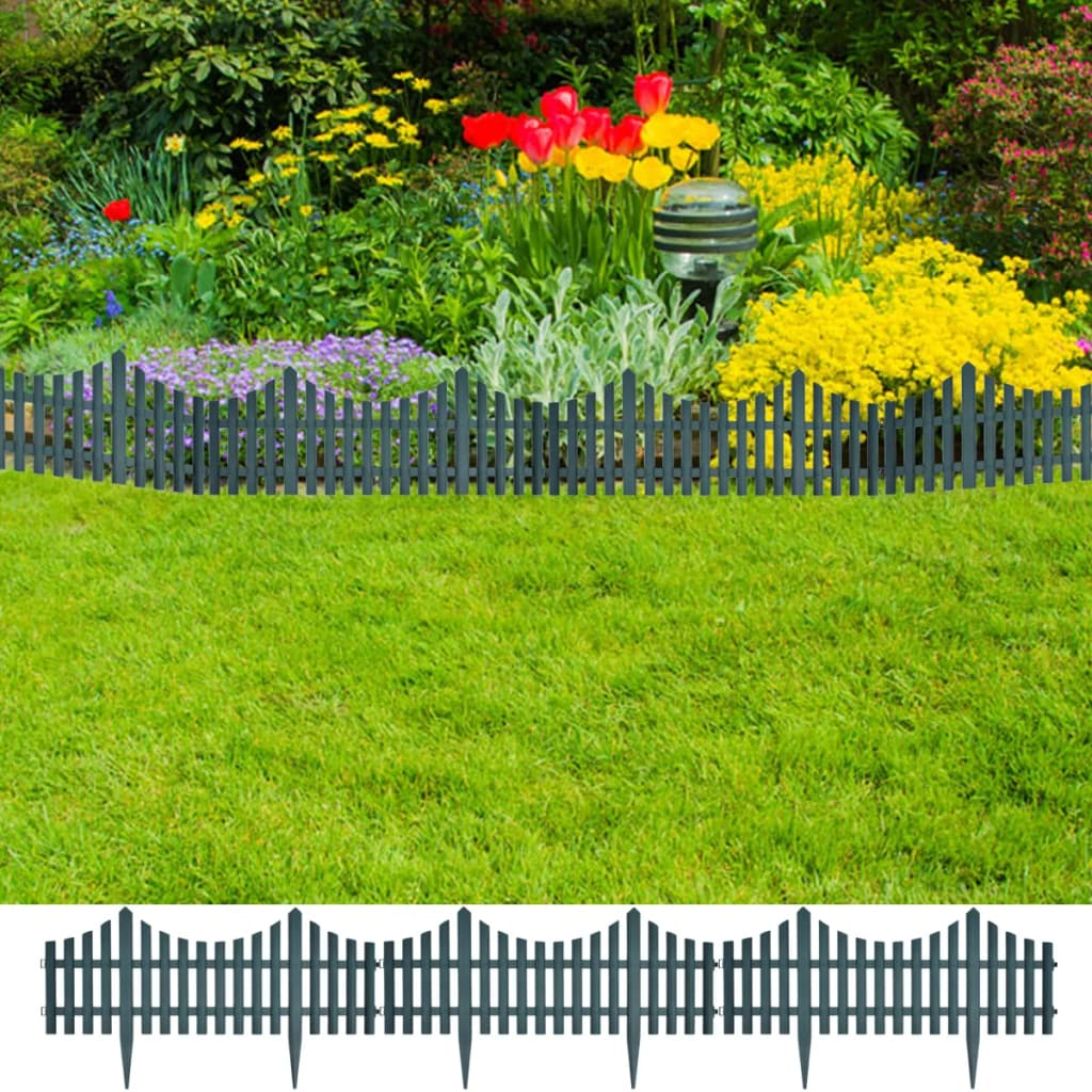 17 pcs Lawn Dividers 10 m Green 1