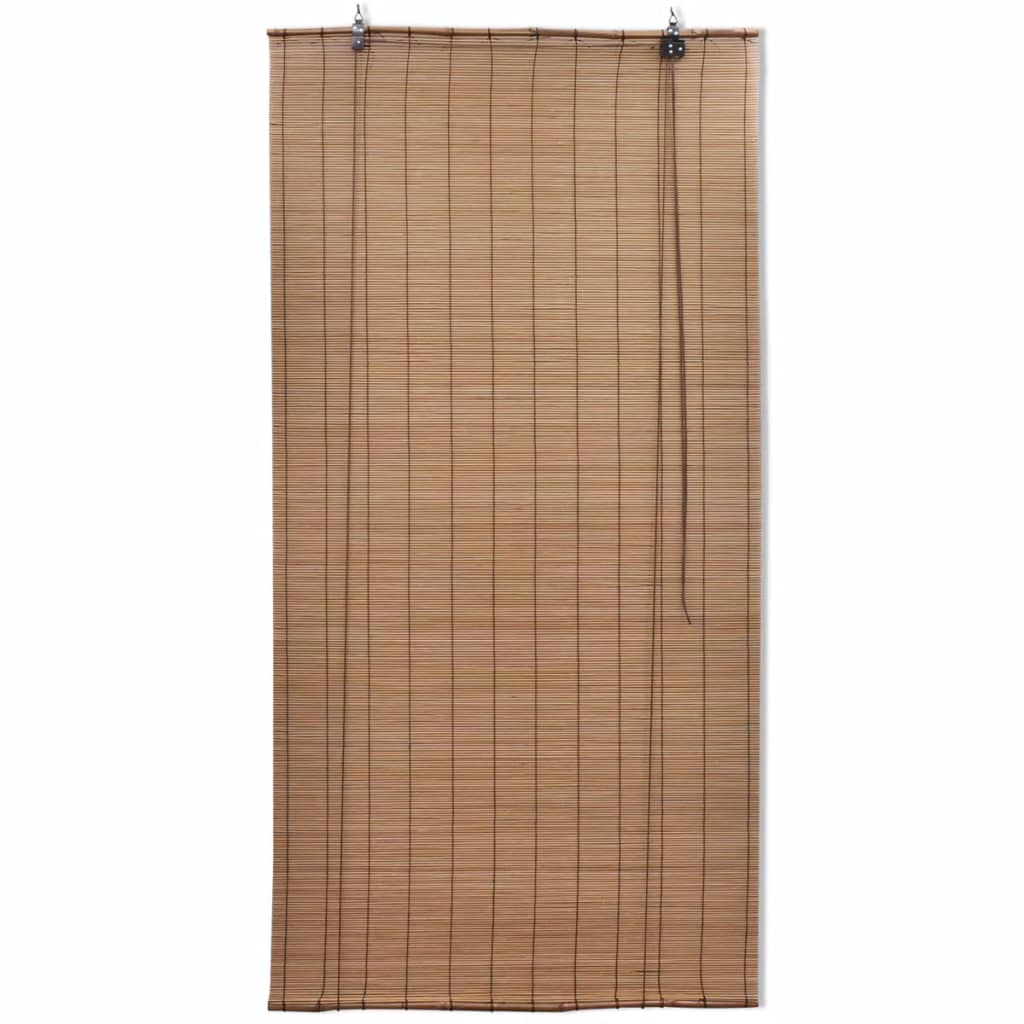 Brown Bamboo Roller Blind 80 x 160 cm 2