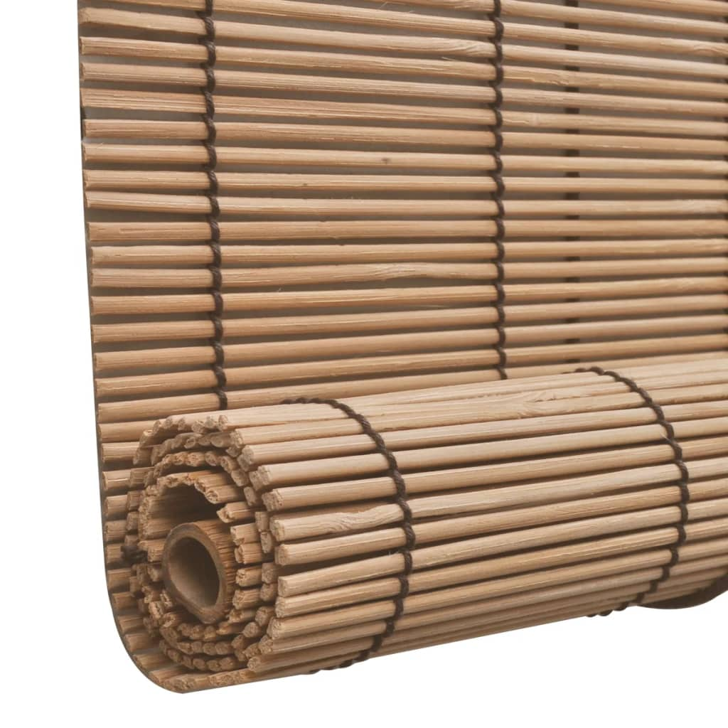 Brown Bamboo Roller Blind 80 x 160 cm 4