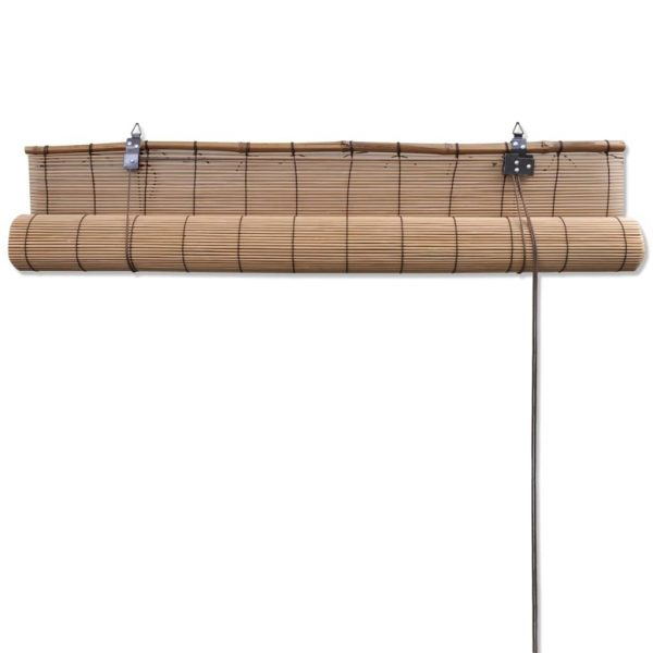 Brown Bamboo Roller Blind 80 x 160 cm 5