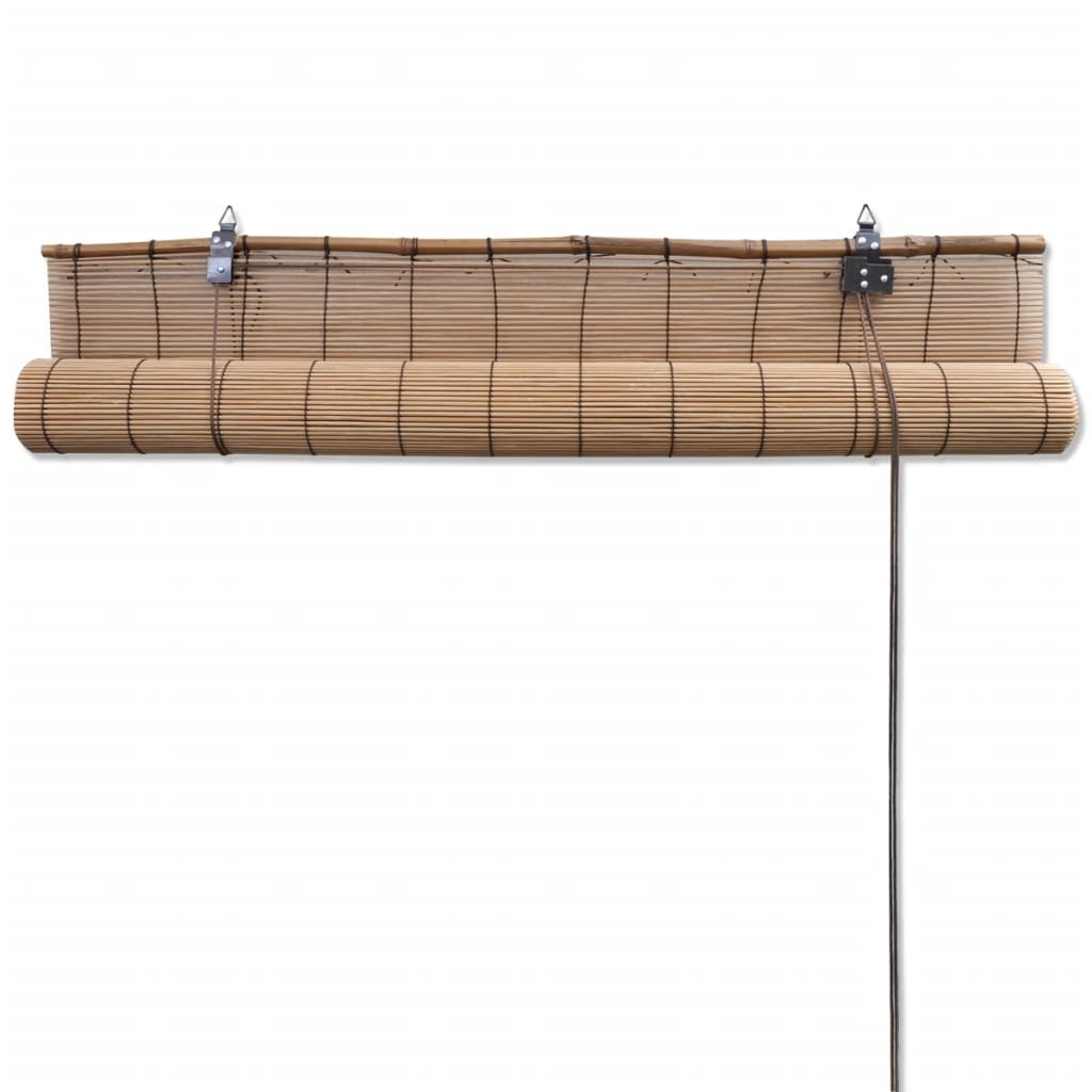 Brown Bamboo Roller Blind 100 x 160 cm 5