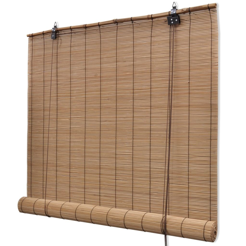 Brown Bamboo Roller Blind 120 x 160 cm 1
