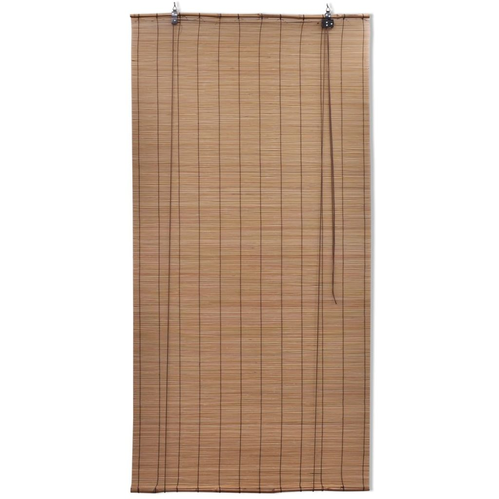 Brown Bamboo Roller Blind 120 x 160 cm 2