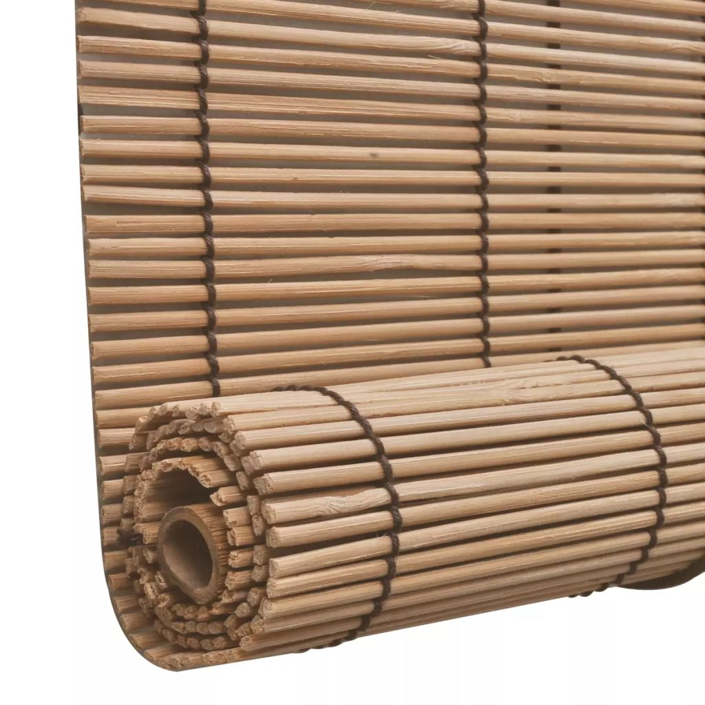 Brown Bamboo Roller Blind 120 x 160 cm 4