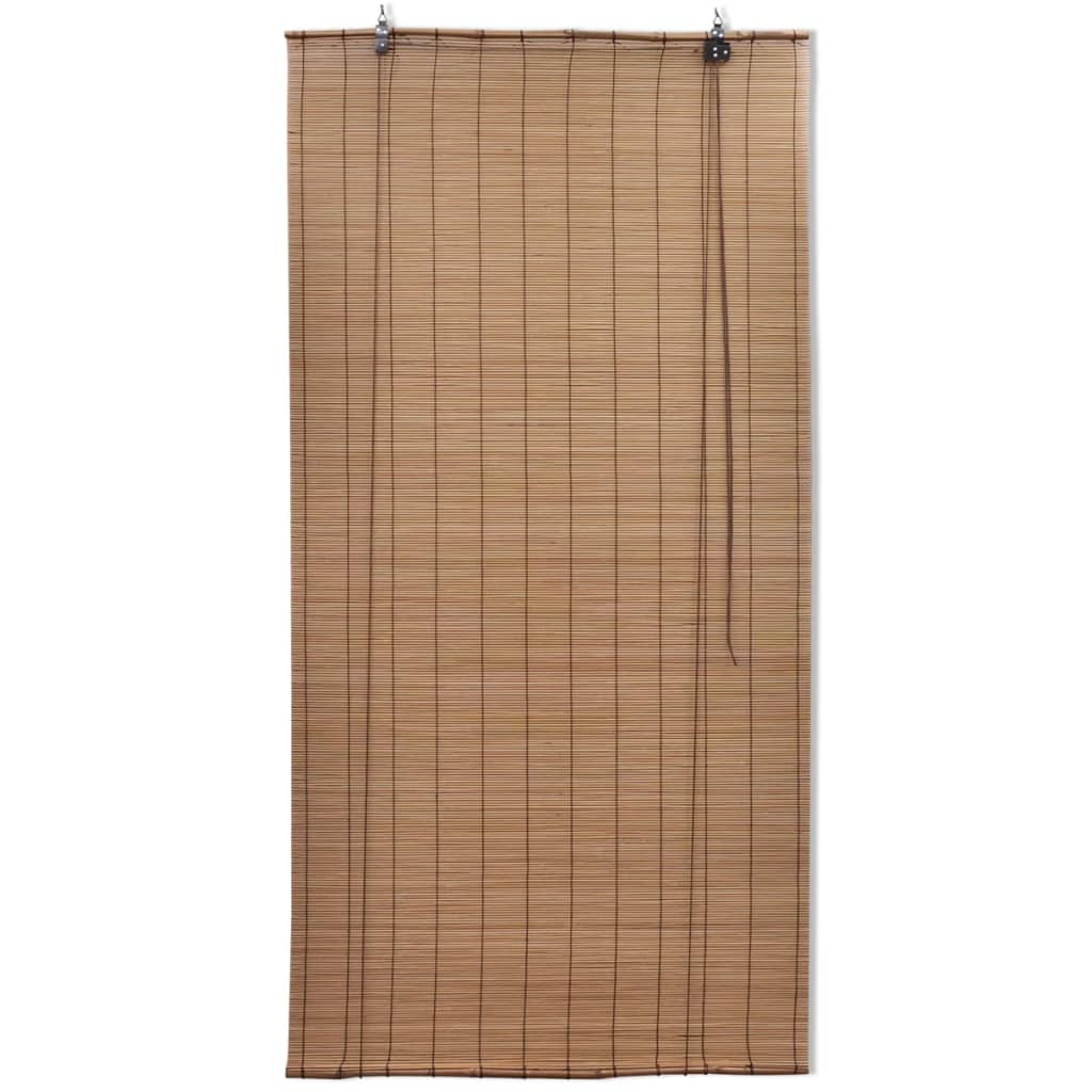Brown Bamboo Roller Blind 120 x 220 cm 2