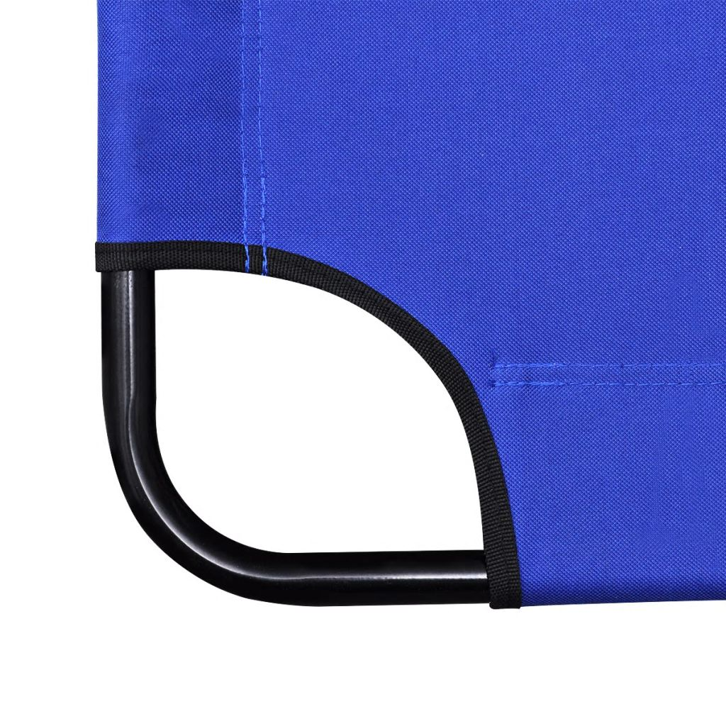Folding Sun Lounger 2 pcs with Footrests Steel Blue 5