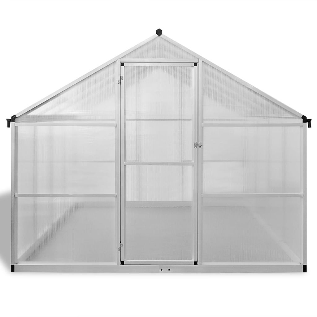 Reinforced Aluminium Greenhouse with Base Frame 9