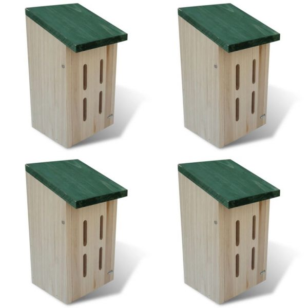 Butterfly House 14x15x22 cm Set of 4 1