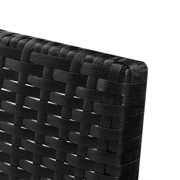 3 Piece Garden Lounge Set with Cushions Poly Rattan Black 6