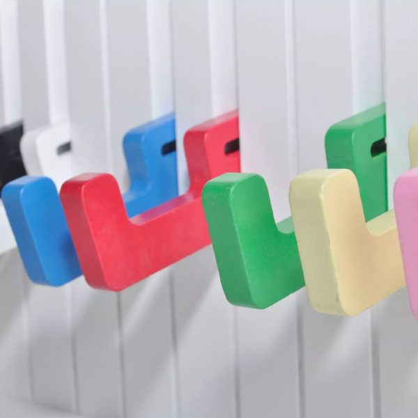Piano Keyboard Design Wall-mounted Coat Rack with 16 Colourful Hooks 3