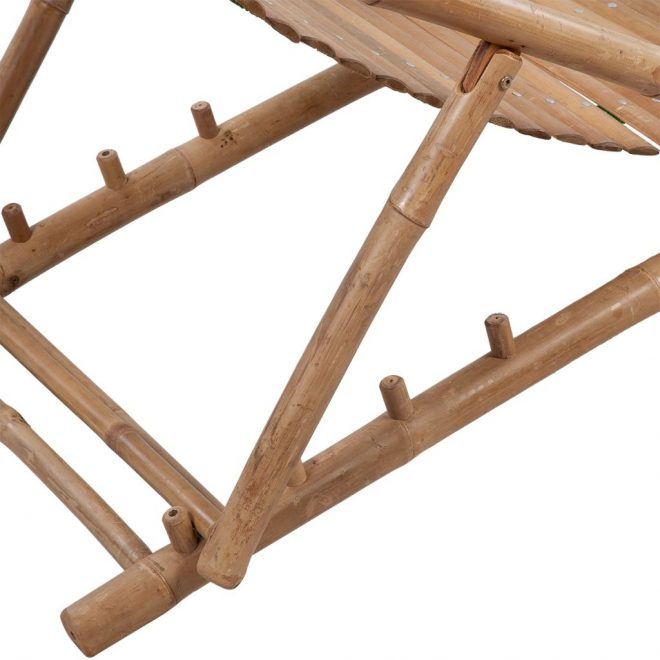 Outdoor Deck Chair with Footrest Bamboo 4