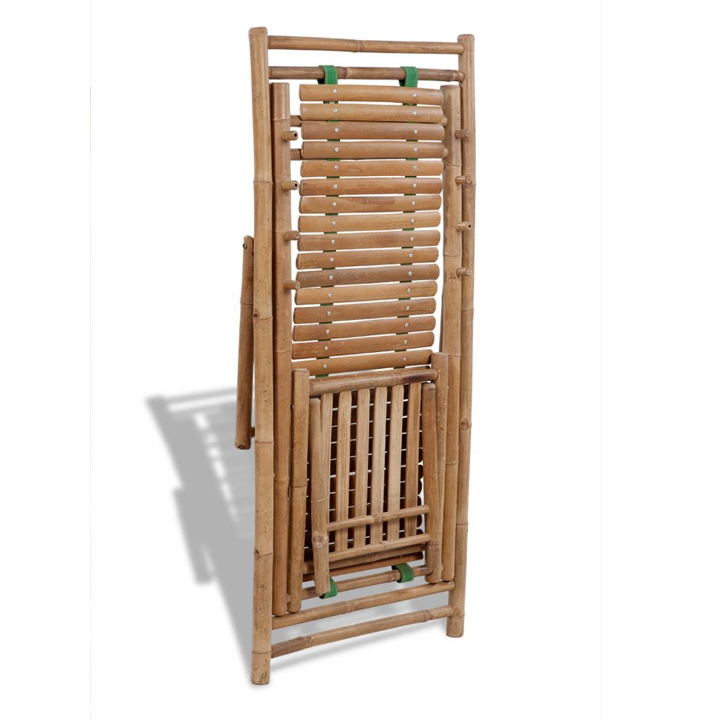 Outdoor Deck Chair with Footrest Bamboo 5