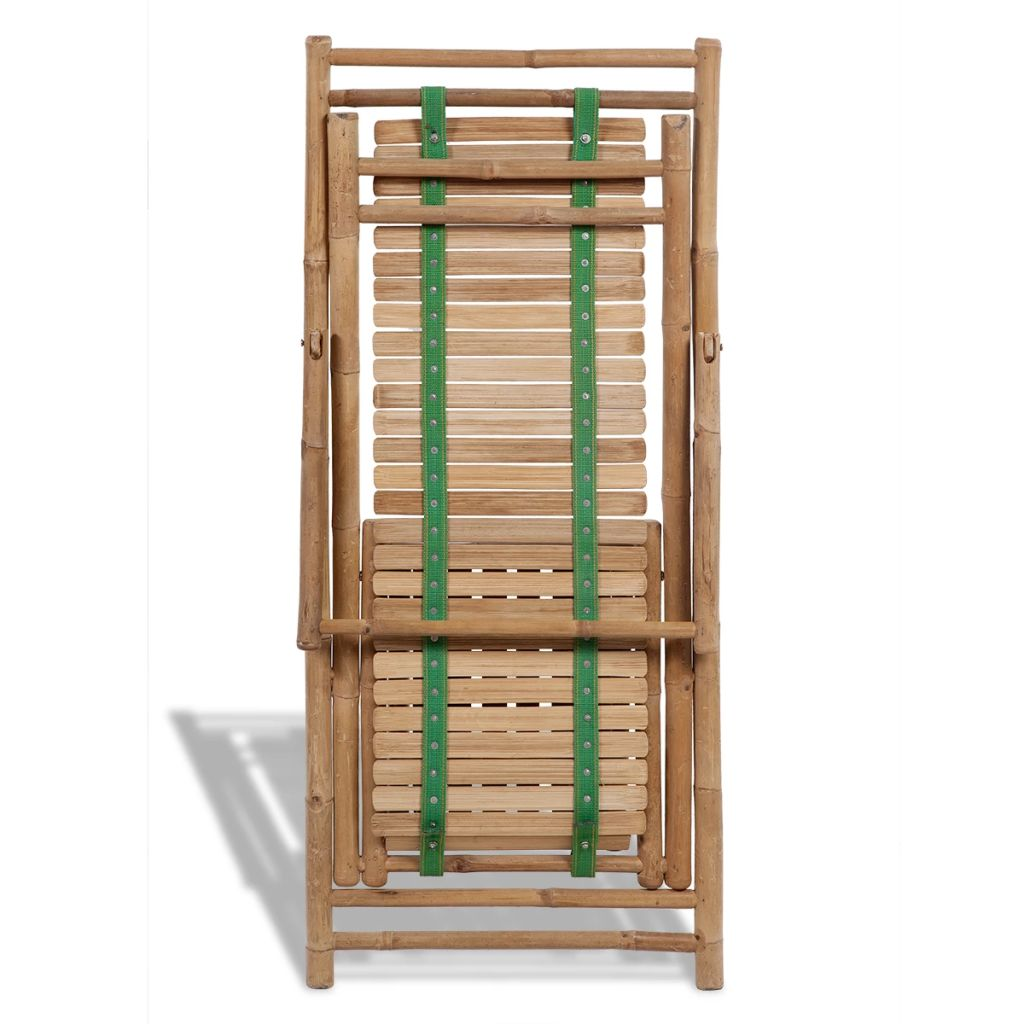 Outdoor Deck Chair with Footrest Bamboo 6