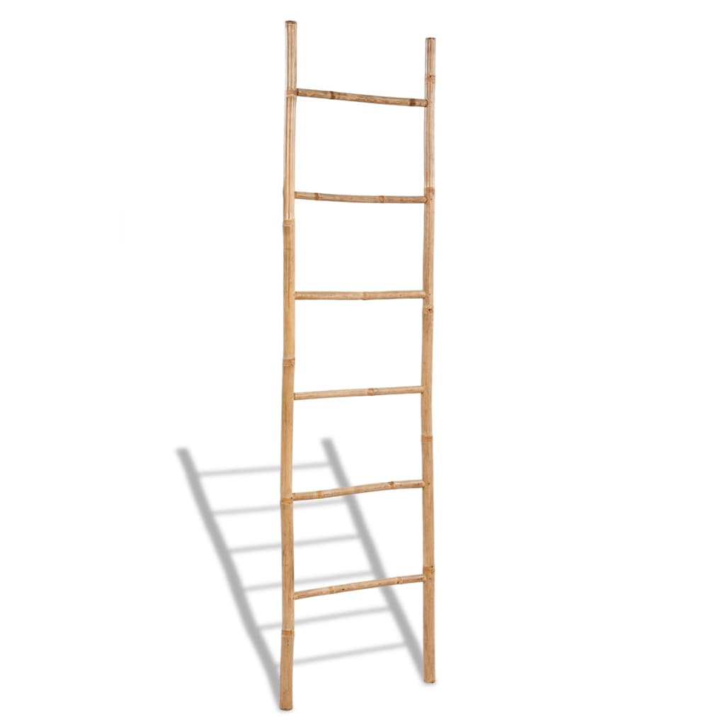 Bamboo Towel Ladder with 6 Rungs 1