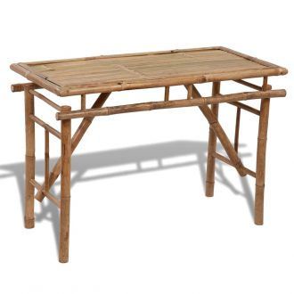 Folding Garden Table 120x50x77 cm Bamboo 1