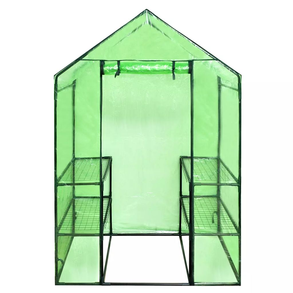 Walk-in Greenhouse with 4 Shelves 4