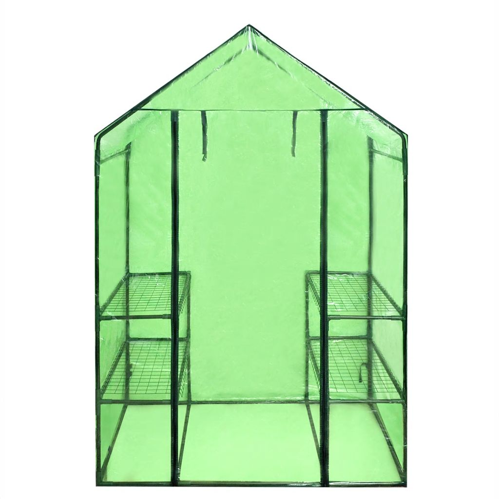 Walk-in Greenhouse with 4 Shelves 5