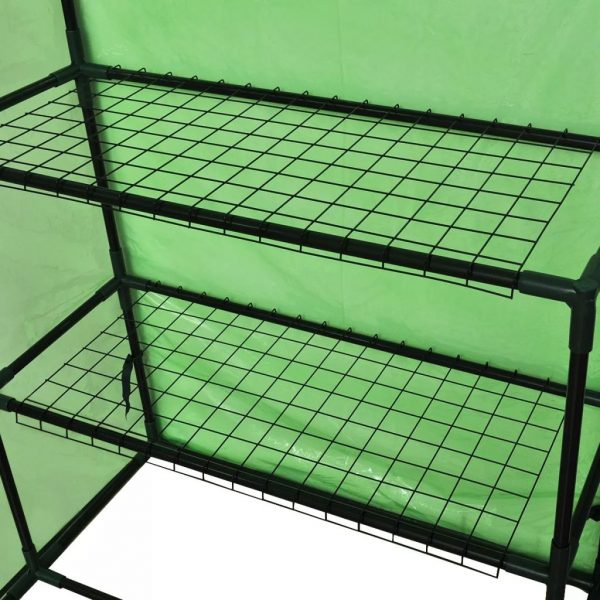 Walk-in Greenhouse with 4 Shelves 6