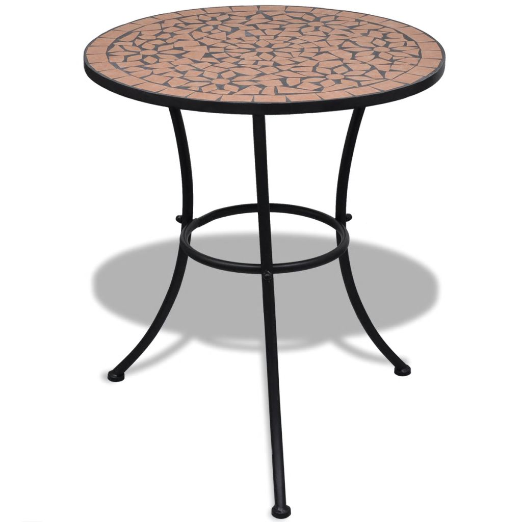 Bistro Table Terracotta 60 cm Mosaic 1