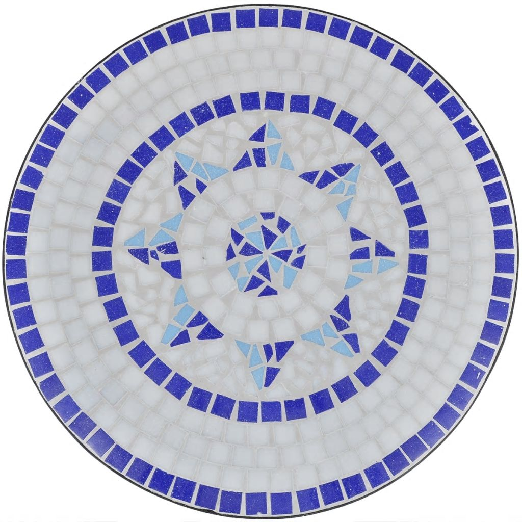 Bistro Table Blue and White 60 cm Mosaic 3